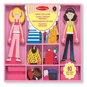 Abby Y Emma Muñecas Magneticas Para Vestir 60 Pzas