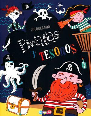 Coloreando piratas y tesoros