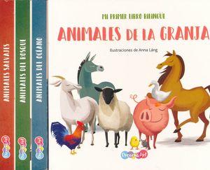 Col. Mi primer libro bilingüe. Animales de la granja / Animales del océano / Animales del bosque / Animales salvajes / pd. (4 títulos / venta individual)