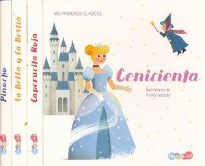 Col. Mis primeros clásicos. Cenicienta / Caperucita roja / La bella y la bestia / Pinocho / pd. (4 títulos / venta individual)