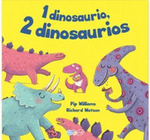 1 dinosaurio, 2 dinosaurios.