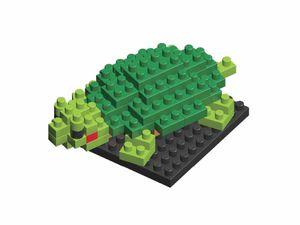 Rompecabezas Minibloques 3D Tortuga (50 pzas.)