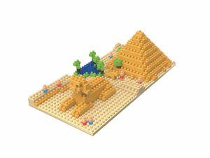 Rompecabezas Minibloques 3D Pirámide de Khufu (245 pzas.)