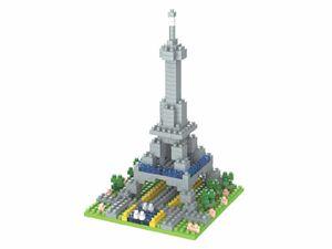 Rompecabezas Minibloques Torre Eiffel 3D (181 pzas.)