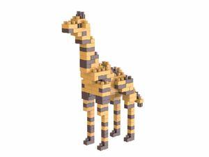 Rompecabezas Minibloques 3D Jirafa (130 pzas.)