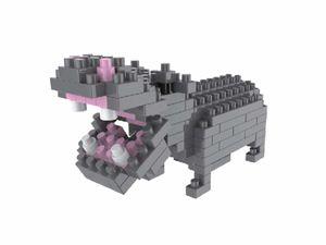 Rompecabezas Minibloques 3D Hipopótamo (132 pzas.)