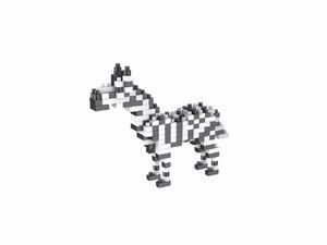 Rompecabezas Minibloques 3D Cebra (184 pzas.)