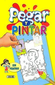 PEGAR Y PINTAR CON PEGATINAS (AMARILLO)