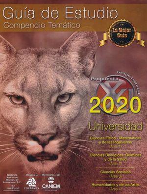 PAQ. GUIA DE ESTUDIO COMPENDIO TEMATICO PARA INGRESO A LA UNIVERSIDAD 2020 + TARJETA DE AUTOEVALUACION