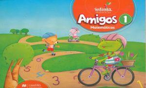 PAQ. AMIGOS MATEMATICAS 1 SERIE INFINITA PREESCOLAR (LIBRO DE ESTUDIO + CUADERNO DE TRABAJO)