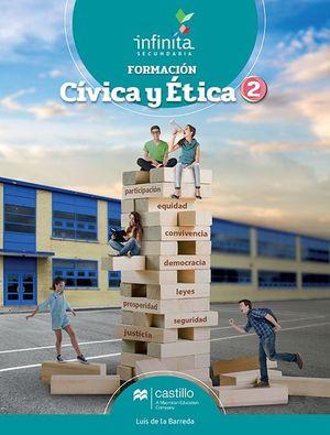 PAQ. FORMACION CIVICA Y ETICA 2 SERIE INFINITA SECUNDARIA (LIBRO DE ESTUDIO + CUADERNO DE TRABAJO)