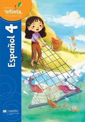 Paq. Español 4. Serie Infinita. Primaria (Libro de estudio + cuaderno de práctica y evaluación)