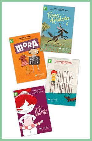 Paquete 5. Lectores de 8 y más / Perro Apestoso / Mora busca su estilo / Supermediano / Un tutú muy apretado