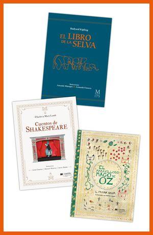 Paquete 8. Los inolvidables y de colección. El libro de la selva / Cuentos de Shakespeare / El maravilloso Mago de Oz