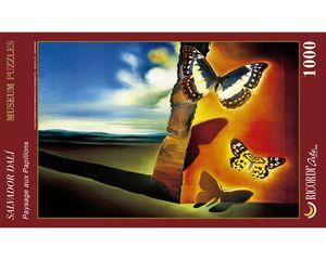 Rompecabezas Paisaje con mariposas (1000 pzas.)