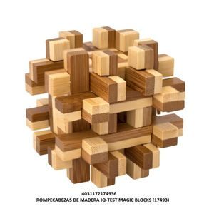 ROMPECABEZAS DE MADERA IQ TEST MAGIC BLOCKS