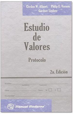 ESTUDIO DE VALORES FOLLETO DE APLICACION