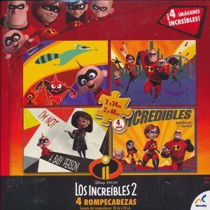 R.C. LOS INCREIBLES 2 (4 ROMPECABEZAS) (2 X 24 PZAS. / 2 X 48 PZAS.)
