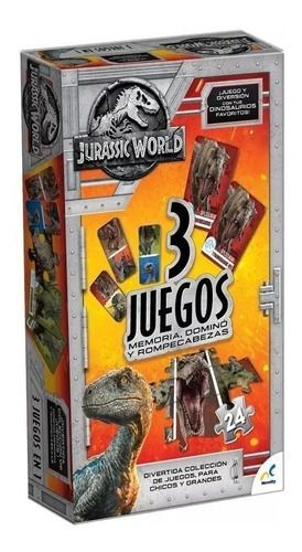 JURASSIC WORLD 3 JUEGOS (MEMORIA / DOMINO / ROMPECABEZAS)