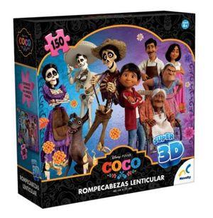 ROMPECABEZAS LENTICULAR SUPER 3D COCO / 150 PZAS. (CAJA DE CARTON)
