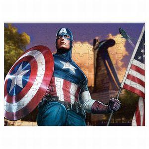 Rompecabezas Coleccionable Avengers Capitan America / Caja Metálica / 100 pzs.
