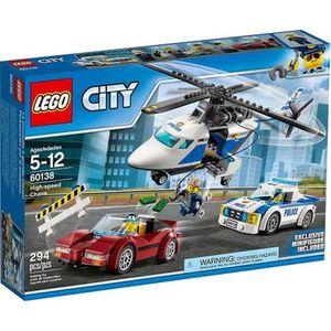 LEGO CITY POLICE. PERSECUCION POR LA AUTOPISTA