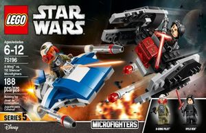 LEGO STAR WARS. A WING VS SILENCIADOR TIE