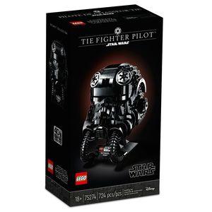 Lego Star Wars. Casco tie fighter pilot (color negro)