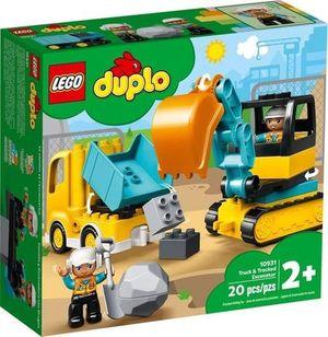 LEGO Duplo Camión y excavadora con orugas