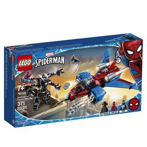 Lego Marvel Spiderman. Jet arácnido vs. armadura robótica de Venom