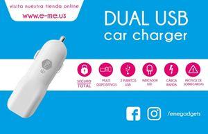 DUAL USB CAR CHARGER E-ME (BLANCO)