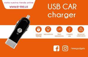 CUTE USB CAR CHARGER E-ME (NEGRO)