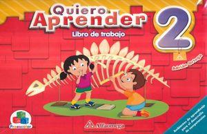 PAQ. QUIERO APRENDER 2. PREESCOLAR  (LIBRO DE TRABAJO + CUADERNO DE TRABAJO)