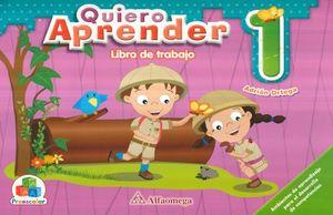 PAQ. QUIERO APRENDER 1. PREEESCOLAR (LIBRO DE TRABAJO + CUADERNO DE TRABAJO)
