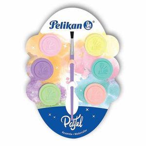 Acuarela infantil colores pastel / (6 pastillas)