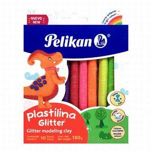 Plastilina barras colores glitter / (10 pzas.)
