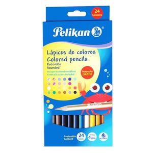 Lápices de colores metálicos largos / (12 pzas.)