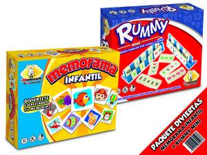 Rummy mini con Memorama Infantil