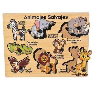 R.C. ANIMALES SALVAJES / MADERA 8 PZS.