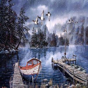Pequeño bote en invierno (1000 pzas.)