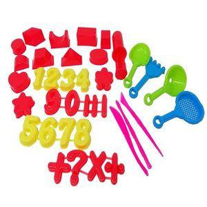 Moldes para arena números y figuras (36 pzas.)