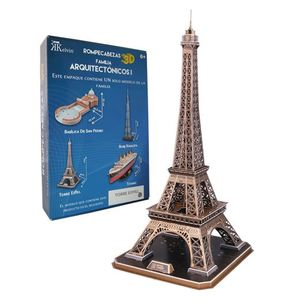 Rompecabezas 3D real torre Eiffel
