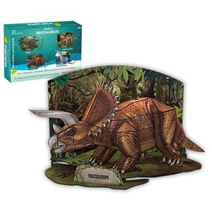 Rompecabezas 3D real Triceratops