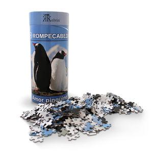 Rompecabezas Amor Pingüino (cilindro con 1000 pzas.)