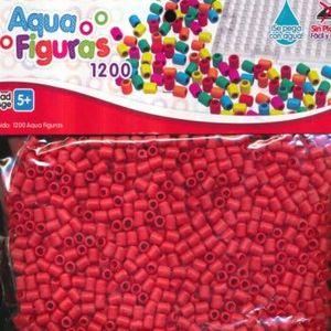 AQUA FIGURAS COLOR ROJO 1200 PZAS.