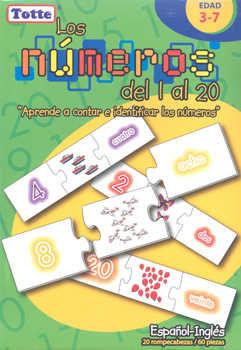 R.C. LOS NUMEROS DE 1 AL 20 ESPAÑOL-INGLES 60 PZS.