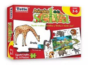 R.C. ANIMALES DE LA SELVA ESPAÑOL-INGLES 9 PZS.