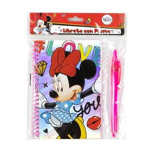 Libreta Con Pluma Minnie Mouse