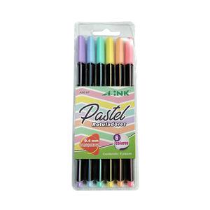 Estuche con 6 rotuladores en colores pastel