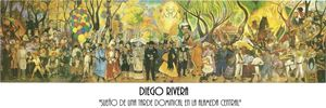 POSTER MURAL PASEO DOMINICAL (DIEGO RIVERA)